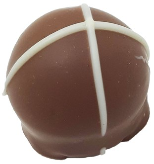 Easter Hot Cross Bun Truffle 34% MILK  loose